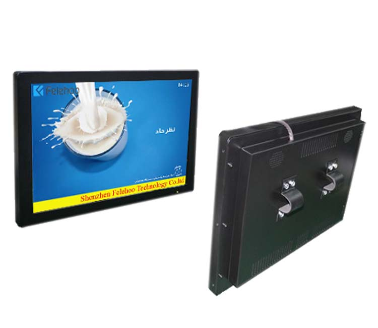 Bus coach lcd media advertising display lcd monitor-back mount bracket on bus