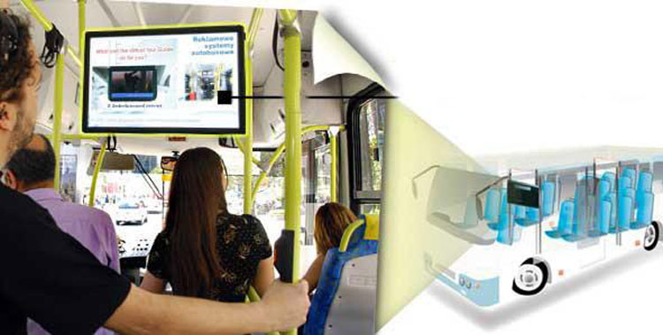 Felehoo Sell 32inch vehicle bus digital signage system for video advertising screen