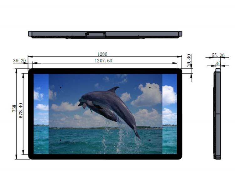 55 inch Vertical Digital Signage Digital Poster designed drawing size