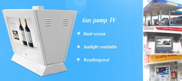 outdoor digital menu supplier,Digital signage board for gas pump station to play tv video screen ad player