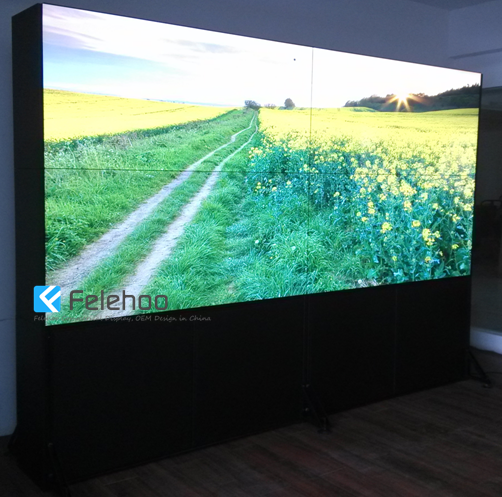 Video Wall Design userfuls stunning videowall located in a hallway Lcd Video Wall Design 4k Video Wall Seamless 60 2x2 4 Tv Video Wall