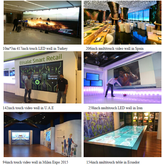 multi touch screen lcd video wall system solution case