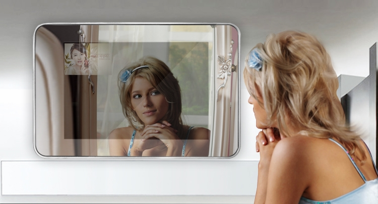 digital mirror displays magic mirror tv screen,tv behind mirror,tv mirror glass