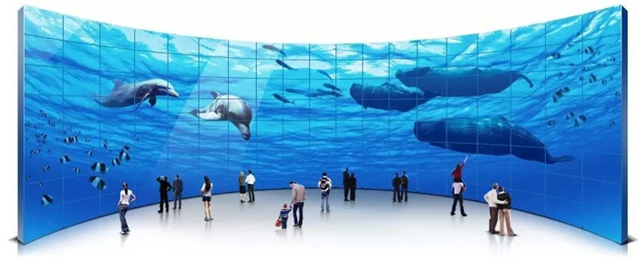 Felehoo Interactive video wall touch display solution is widely used for virtual aquarium