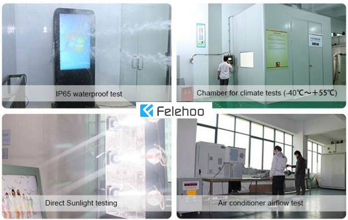 Felehoo outdoor touchscreen monitors has serious testing quality standard