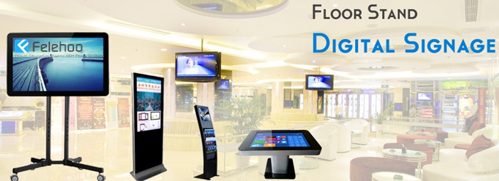 floor stand digital signage totem free stand with different enclosure style-support custom design