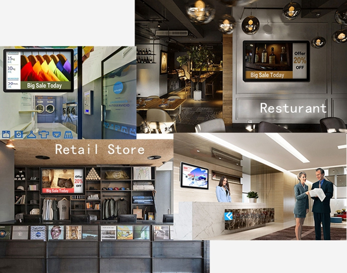 digital signage monitors for retail stores,business corporate display application