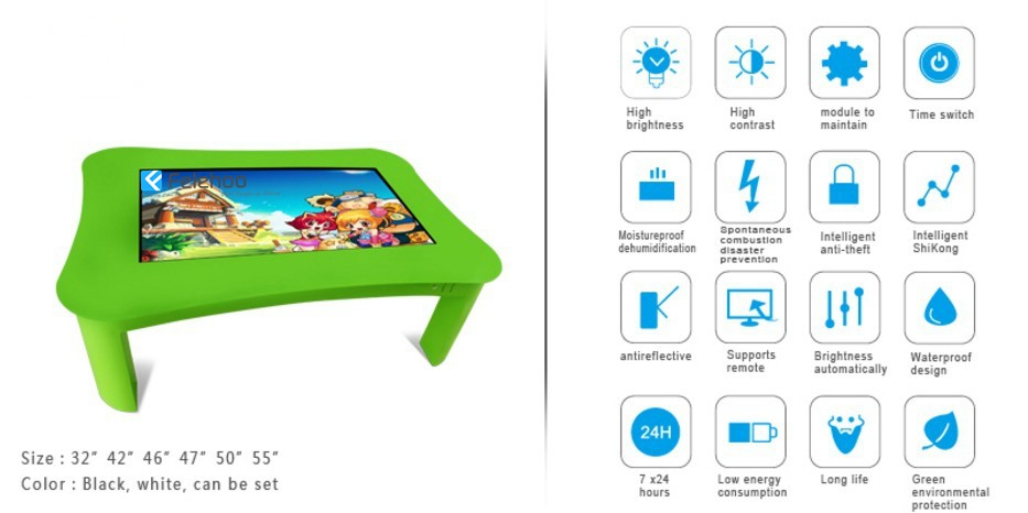 multi touch table for school kid interactive table for children