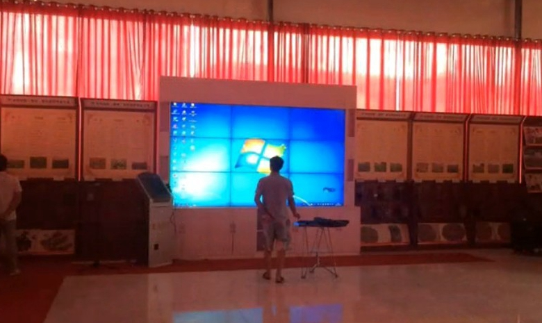 Multi touch video wall large lcd touch displays 3x3