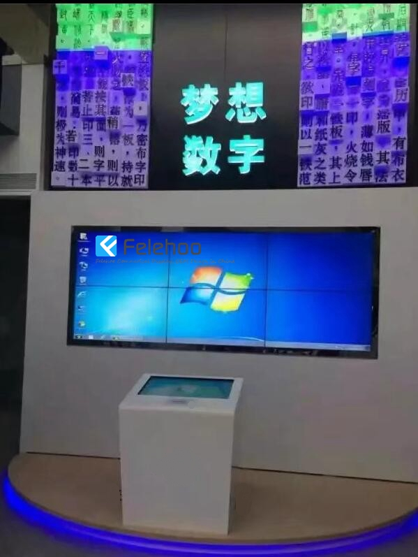 lcd touchscren kiosk and controll the video wall large screen for showroom meeting room